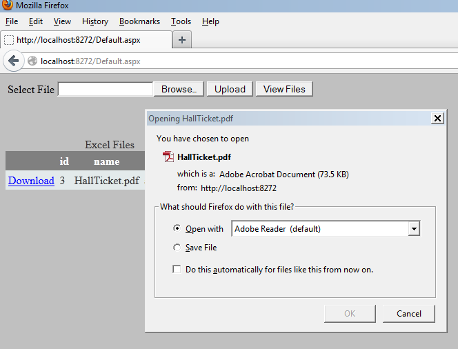 uploading and downloading pdf files from database using asp net c