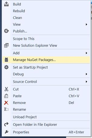 Manage nugget packages