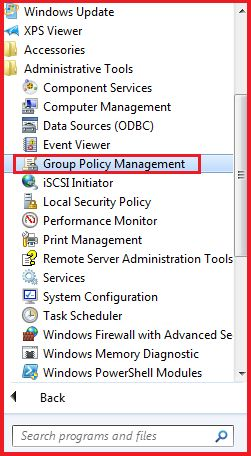 Opening Group Policy Management via Program Files