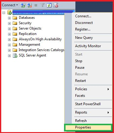 Configuring SQL Server Properties
