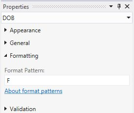 Full Date Long Time Format Pattern Properties