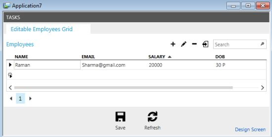 Output using s and t custom format specifier