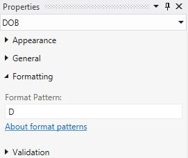 Long Date Format Pattern Properties