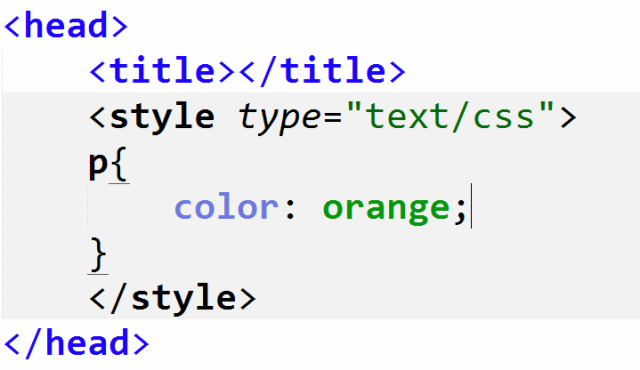 how to change color of text in html using css