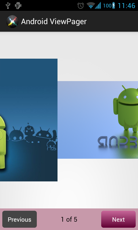 Top Programming Languages >> Android ViewPager