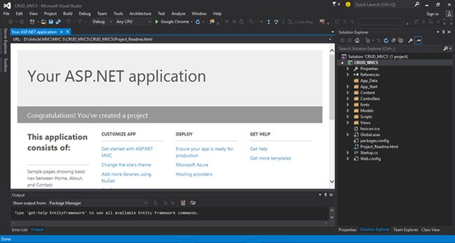 ASP.NET application template