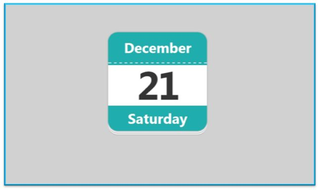 Creating Reusable and Scalable Calendar Icon in HTML5 and CSS3