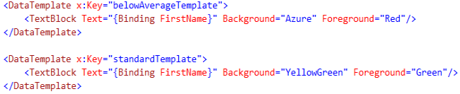 DataTemplate in XAML
