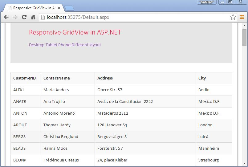 Responsive Bootstrap GridView in ASP NET - DZone Mobile