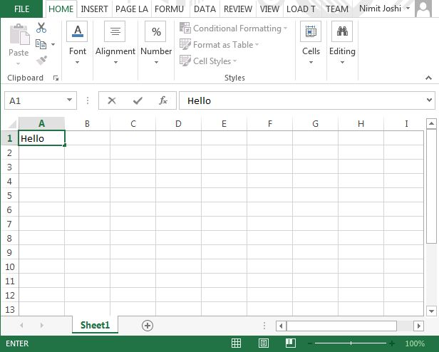 Creating Excel AddIn From Visual Studio 2013 – Worksheet Excel Definition