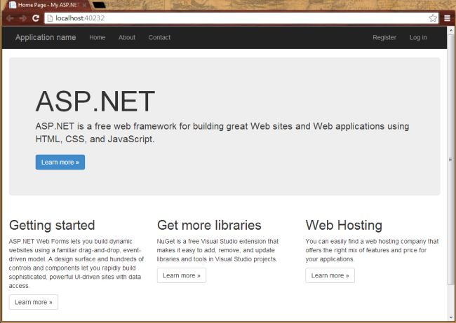 Getting Started With Asp Net Web Forms In Visual Studio 2013