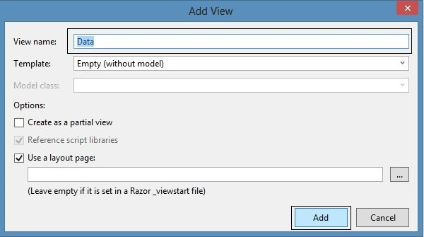 Add View Wizard