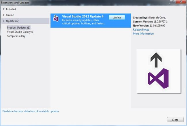 Visual Studio 2012 Update