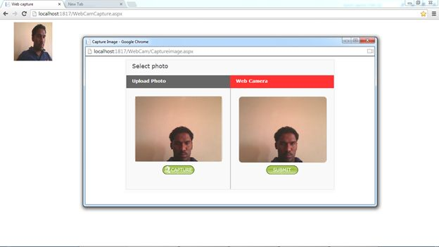 Capturing image from web cam in asp net for Image capture