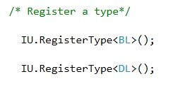 Register a type