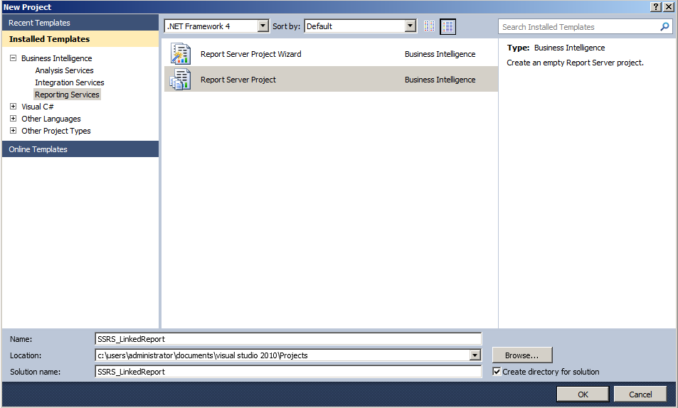 how to create linked report in ssrs