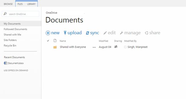 new document in sharepoint