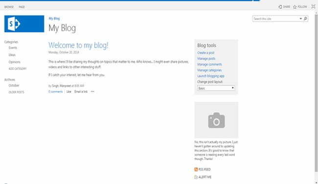 site template part 2  blogs in sharepoint 2013 or office 365