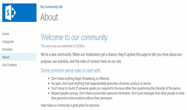 About the My Community Site