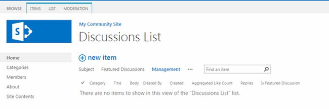 Manage Discussions