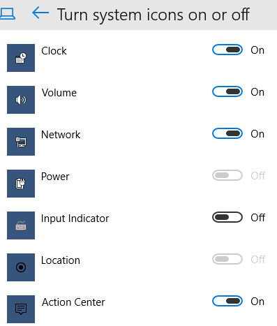 How to Turn Off and On Notification Area Icons in Windows 10