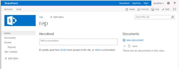Site in SharePoint 2013