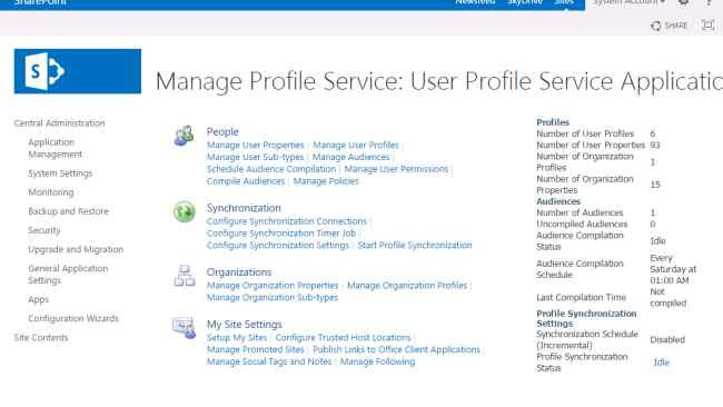 see the default number of user profile