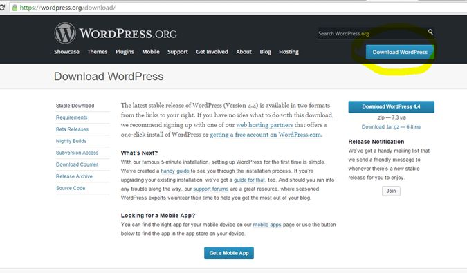 download the Worpress