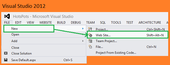how to create html5 code snippet in visual studio