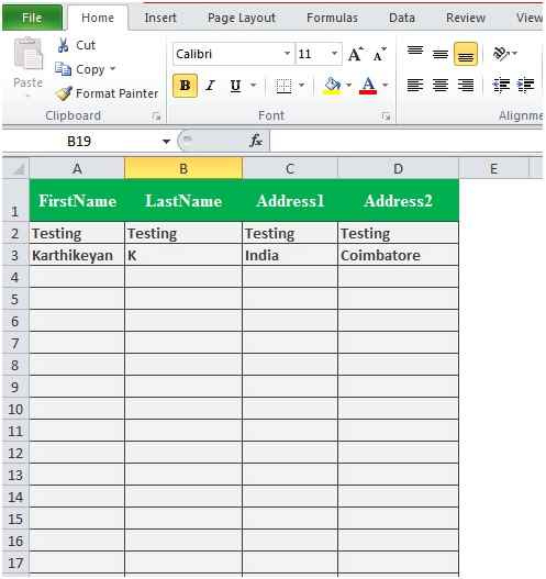 Store HTML Form to Excel Sheet Using VBScript