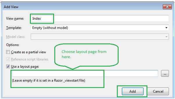 Asp Net Mvc First Application Step By Step