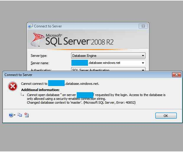 how to connect to sql server