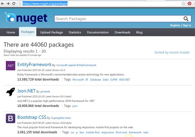 install NuGet Package Manager