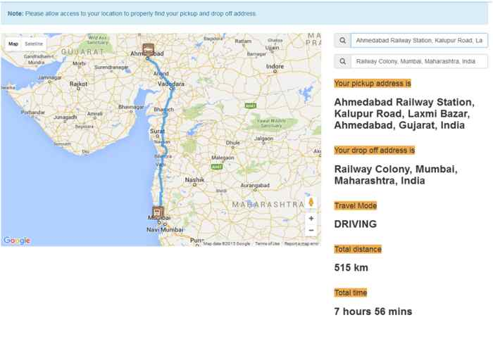 Google Map Route Direction Custom Pin Point Calculate Distance And Time Using Javascript