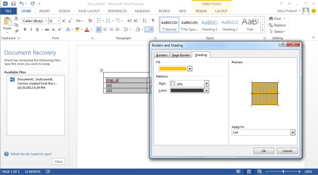 how to set up columns in word 2013