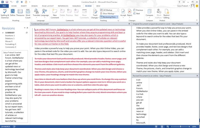 how to change word document to previous version