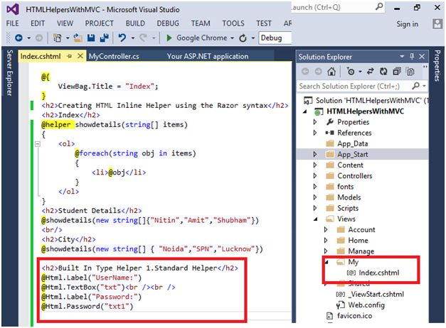 creating custom html helpers mvc 5 Skills required to develop standards based dynamic and data-driven web applications and services using the aspnet mvc 5x  creating custom html helpers.