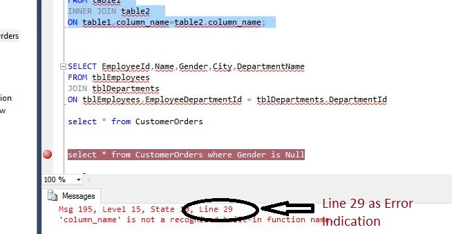 how to understand sql lines