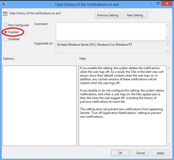 how to clear run history in windows 8