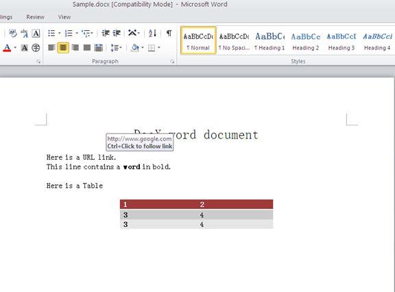 How to Convert DocX Into PDF, HTML and XPS in C#