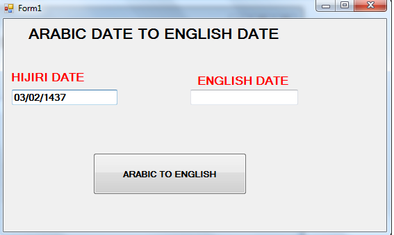 Arabic Calendar Date To English Calendar Date In Windows