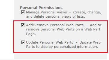 "SharePoint Site Hide ""Personalize This Page"" Option"