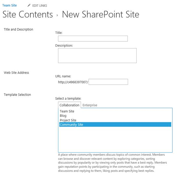 How to create a community site in sharepoint 2013 for Sharepoint 2013 blog template