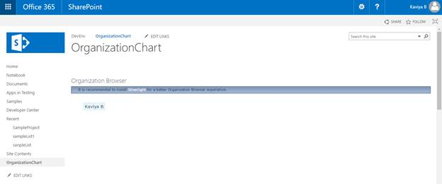 Add Organization Browser Web Part In Sharepoint Online