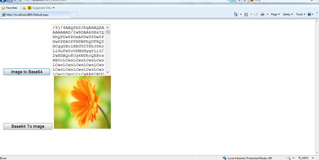 Convert an Image to Base64 String and Base64 String to Image