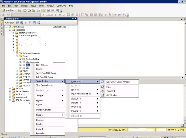 how to create table in sql server