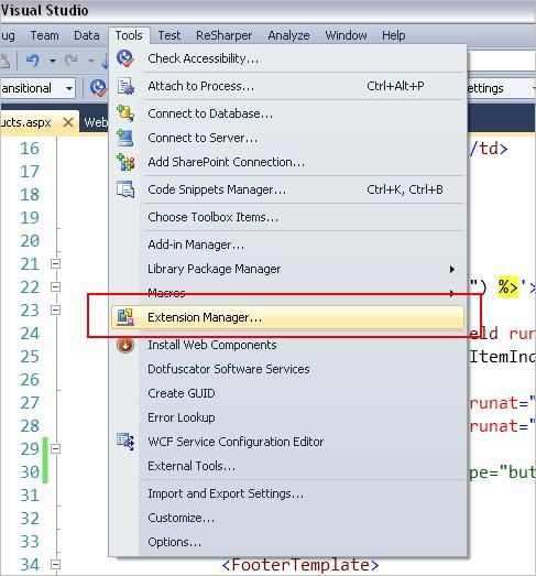 Extension manager In Menu.JPG