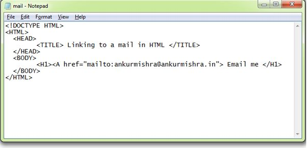 Linking to a mail System in HTML