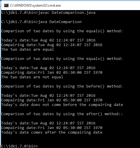 Java compare dates in Sydney