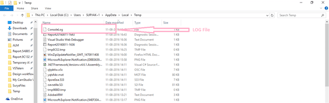 Write a log file in php